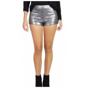 Free People Shorts - Free People Katrin High Waist Sequin Shorts